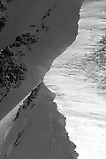 The serrated edge of a cornice graces the north face of Grizzly Peak, Colorado.