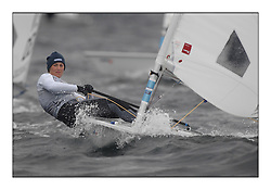 Charlotte Dobson, GBR 197660.Day 2 brought Easterly changeable conditions for the Laser Radial World Championships, taking place at Largs, Scotland GBR. ..118 Women from 35 different nations compete in the Olympic Women's Laser Radial fleet and 104 Men from 30 different nations. .All three 2008 Women's Laser Radial Olympic Medallists are competing. .The Laser Radial World Championships take place every year. This is the first time they have been held in Scotland and are part of the initiaitve to bring key world class events to Britain in the lead up to the 2012 Olympic Games. .The Laser is the world's most popular singlehanded sailing dinghy and is sailed and raced worldwide. ..Further media information from .laserworlds@gmail.com.event press officer mobile +44 7775 671973  and +44 1475 675129 .