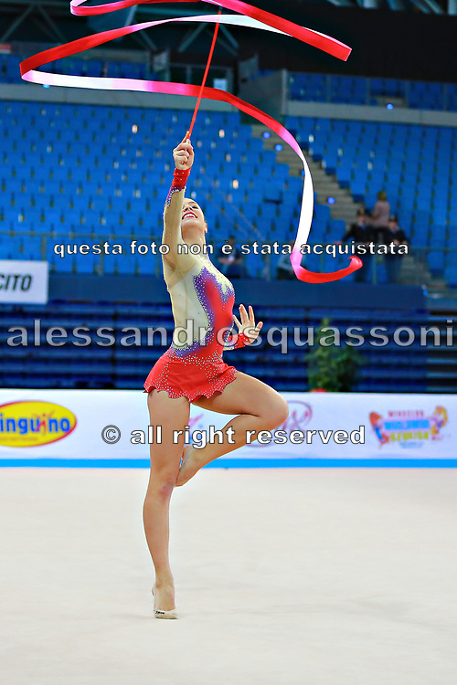 Castiglioni Lucia during qualifying at ribbon in Pesaro World Cup 11 April 2015.<br /> Lucia is a San Marino athlete born on May 28,1998 in San Marino.