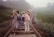 sightseeing on a foggy day Japan early 1980s