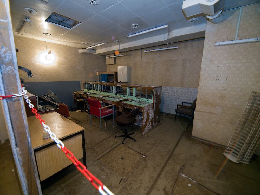 Room inside the Honecker Bunker in Prenden.