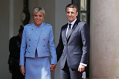 Paris: New President Emmanuel Macron Swearing In Ceremony - 14 May 2017