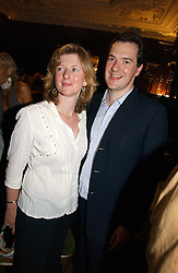 GEORGE OSBORNE MP and his wife FRANCES at a party to celebrate the publication of 'A History of The English Speaking Peoples Since 1900' hosted by Andrew Roberts and Susan Gilchrist at the English-Speaking Union, 37 Charles Street, London W1 on 11th September 2006.<br /><br />NON EXCLUSIVE - WORLD RIGHTS