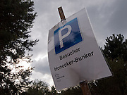 Parking sign at a parking place close to the Honecker Bunker in Prenden.
