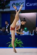 Giulia Muscolino  atleta della Società Gymnica 96 di Forlì durante la seconda prova del Campionato Italiano di Ginnastica Ritmica.<br /> La gara si è svolta a Desio il 31 ottobre 2015.