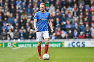 Portsmouth Defender, Matt Clarke (5) during the EFL Sky Bet League 1 match between Portsmouth and Rochdale at Fratton Park, Portsmouth, England on 13 April 2019.