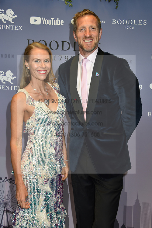 Will Greenwood and wife Caroline at the Boodles Boxing Ball, in association with Argentex and YouTube in Support of Hope and Homes for Children at Old Billingsgate London, United Kingdom - 7 Jun 2019 Photo Dominic O'Neil