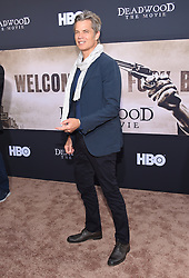 May 14, 2019 - Hollywood, California, U.S. - Timothy Olyphant arrives for the premiere of HBO's 'Deadwood' Movie at the Cinerama Dome theater. (Credit Image: © Lisa O'Connor/ZUMA Wire)