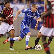 Andre Schurrie, Chelsea, in action during the Chelsea V AC Milan Guinness International Champions Cup tie at MetLife Stadium, East Rutherford, New Jersey, USA.  4th August 2013. Photo Tim Clayton