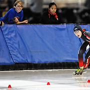 September 18, 2010 - Kearns, Utah - Kai Di Nardo races in long track speedskating time-trials held at the Utah Olympic Oval.