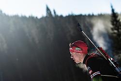 Alex Cisar during practice in Pokljuka, Rudno Polje, 7 February 2020 , Slovenia. Photo by Grega Valancic / Sportida
