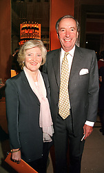 MISS LIBBY REEVES PURDY and MR JOHN CHALK <br /> at a reception in London on 26th April 2000.ODB 180