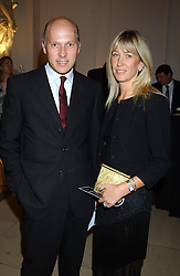 MR & MRS PEREGRINE ARMSTRONG-JONES at a evening to celebrate the unveiling of the British Luxury Club at The Orangery, Kensington Palace, London W8 on 16th September 2004.<br /><br />NON EXCLUSIVE - WORLD RIGHTS