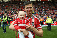 Middlesbrough defender Daniel Ayala (4)  during the Sky Bet Championship match between Middlesbrough and Brighton and Hove Albion at the Riverside Stadium, Middlesbrough, England on 7 May 2016. Photo by Simon Davies.