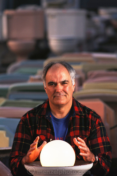 """Don Knapp, owner of Urban Ore Recycling Company. Berkeley, California. """"I see a bright future for recycling: no waste, 100% recycling."""" Recycled building material and household items for sale.  MODEL RELEASED."""