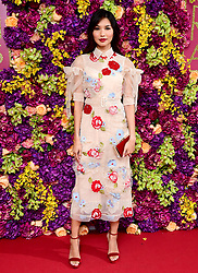 Gemma Chan attending the Crazy Rich Asians Premiere held at Ham Yard Hotel, London.