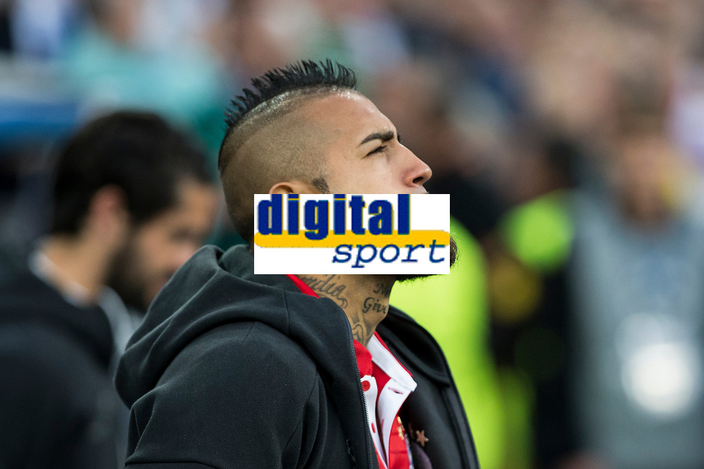 Arturo Vidal of FC Bayern Munchen during the match of Champions League between Real Madrid and FC Bayern Munchen at Santiago Bernabeu Stadium  in Madrid, Spain. April 18, 2017. (ALTERPHOTOS)