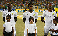 Photo: Steve Bond/Richard Lane Photography.<br />Ghana v Namibia. Africa Cup of Nations. 24/01/2008. Sulley Muntari (L) of Portsmouth, Michael Essien (C) of Chelsea and  John Pantsil (R) of West Ham