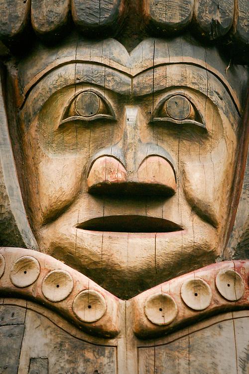 Totem detail, Sitka National Historic Park, Alaska