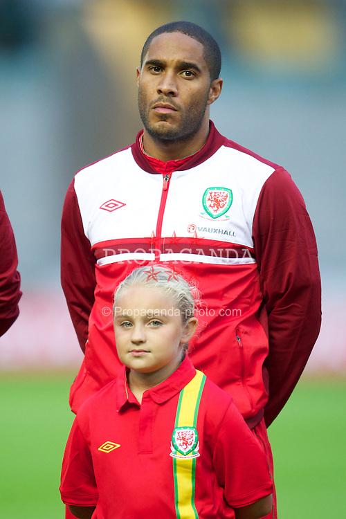LLANELLI, WALES - Wednesday, August 15, 2012: Wales' Ashley Williams before the international friendly match against Bosnia-Herzegovina at Parc y Scarlets. (Pic by David Rawcliffe/Propaganda)