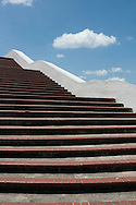 PANAMA, PANAMA - MARCH 07: Stairs at Plaza de Francia. March 07, 2010. Panama, Panamá. (Photo: Rubén Alfú / Istmophoto)