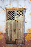 Bar door in Gibara, Holguin, Cuba.