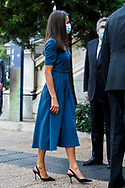 Quena Letizia and King Felipe attend the exhibition opening of the Delibes exhibition at the national library in Madrid