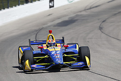 July 7, 2018 - Newton, Iowa, United States of America - ALEXANDER ROSSI (27) of the United States takes to the track to practice for the Iowa Corn 300 at Iowa Speedway in Newton, Iowa. (Credit Image: © Justin R. Noe Asp Inc/ASP via ZUMA Wire)