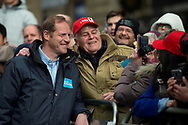 Christian Prudhomme stops for a selfie during stage four of the Tour de Yorkshire from Halifax to Leeds, , United Kingdom on 4 May 2019.
