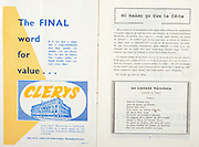 All Ireland Senior Hurling Championship Final,.06.09.1959, 09.06.1959, 6th September 1959,.Minor Kilkenny v Tipperary, .Senior Kilkenny v Waterford, Waterford 3-12. Kilkenny 1-10, ..Advertisement, Clerys,
