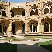 Europe, Portugal, Lisbon. Jerónimos Monastery in the district of Belem, a UNESCO World Heritage site.