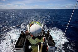 SOUTHERN PACIFIC ESPERANZA 25DEC07 - View from the mast aboard the Greenpeace ship MY Esperanza in the Southern Pacific en route to the Southern Ocean Whale Sanctuary...jre/Photo by GREENPEACE/Jiri Rezac
