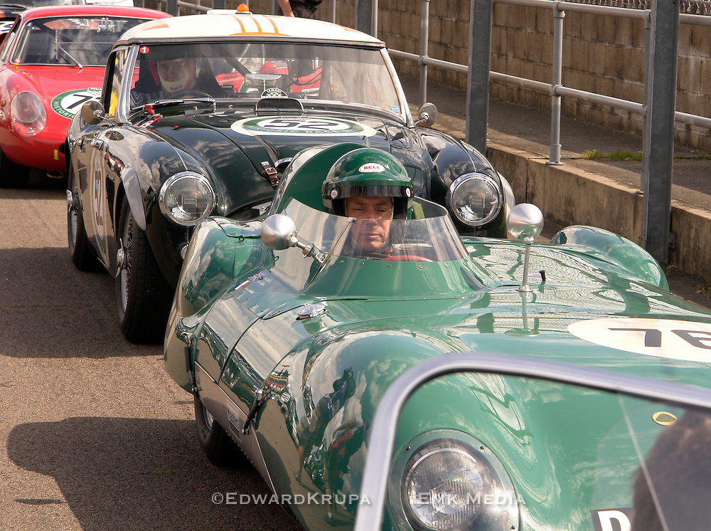 Ready to race. Historic Racing Series in Silversone England. Production - GT Racer.