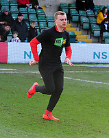 Lincoln City's Harry Anderson during the pre-match warm-up<br /> <br /> Photographer Andrew Vaughan/CameraSport<br /> <br /> The EFL Sky Bet League Two - Lincoln City v Northampton Town - Saturday 9th February 2019 - Sincil Bank - Lincoln<br /> <br /> World Copyright © 2019 CameraSport. All rights reserved. 43 Linden Ave. Countesthorpe. Leicester. England. LE8 5PG - Tel: +44 (0) 116 277 4147 - admin@camerasport.com - www.camerasport.com