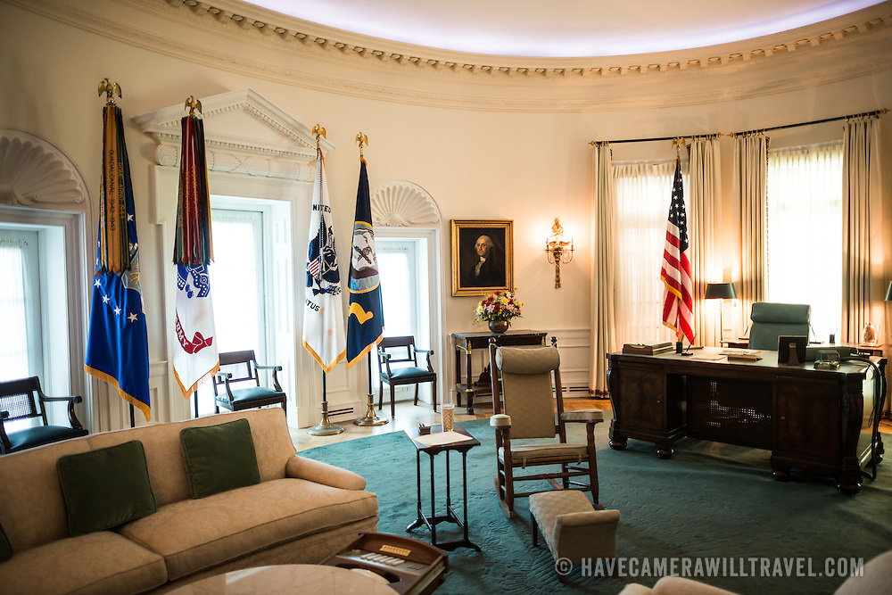 A 7/8ths scale display of the Oval Office as it was used by President Johnson in his time in the White House. The LBJ Library and Museum (LBJ Presidnetial Library) is one of the 13 presidential libraries administered by the National Archives and Records Administration. It houses historical documents from Lyndon Johnson's presidency and political life as well as a museum.
