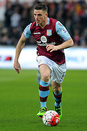 Aston Villa's Ciaran Clark in action. Barclays Premier league match, Swansea city v Aston Villa at the Liberty Stadium in Swansea, South Wales on Saturday 19th March 2016.<br /> pic by  Carl Robertson, Andrew Orchard sports photography.
