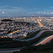 Twin Peaks Overlook - Dusk - San Francisco