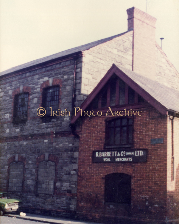 R Barrett and co, woll merchants Old Dublin Amature Photos 1980s, St Patricks Tower, Old Dublin Amature Photos Date Unknown With 1980s