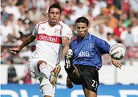 Fotball, 11. september 2004, Bundeliga,  VfB Stuttgart - Hamburger SV, v.l. Kevin KURANYI, Khalib BOULAHROUZ HSV
