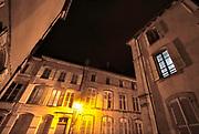 Frankrijk, Neufchateau, 1-11-2019Avondbeeld van het oude stadscentrum van deze stad in Frankrijk . Foto: Flip Franssen