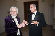 SIR ROY STRONG; SANDY NAIRNE, Mark Weiss dinner, Nationaal Portrait Gallery. London. 15 October 2012.