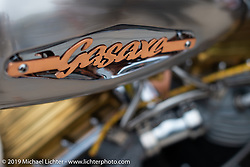 Tim Dixon's Gas Axe 1959 Panhead at the Ace Cafe during Daytona Bike Week. Orlando, FL. USA. Saturday March 10, 2018. Photography ©2018 Michael Lichter.
