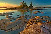 Caron Island and Lake Superior st sunrise<br />