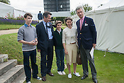 Samuel Chatto, Daniel Chatto, Arthur Chatto Lady Sarah Chatto and Arnaud Bamberger, The Cartier Style et Luxe during the Goodwood Festivlal of Speed. Goodwood House. 1 July 2012.