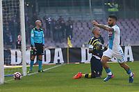 Gol di Lorenzo Insigne Napoli goal celebration<br /> Napoli 12-03-2017  Stadio San Paolo <br /> Football Campionato Serie A 2016/2017 <br /> Napoli - Crotone<br /> Foto Cesare Purini / Insidefoto