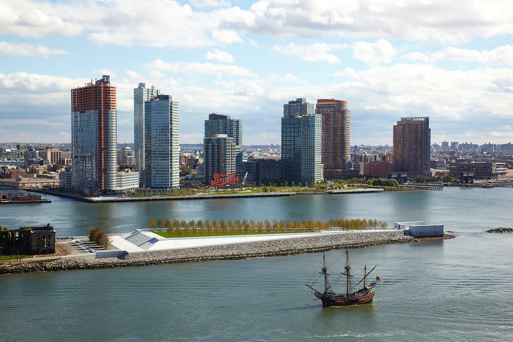 View of East River and Long Island City from 450 East 52nd Street, 15th floor