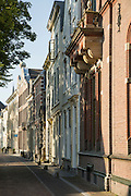 Row of traditional housing in central Utrecht, Netherlands