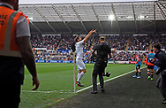 Fernando Llorente of Swansea city © celebrates after he scores  his teams 1st goal for Swansea City.<br /> Premier league match, Swansea city v Everton at the Liberty Stadium in Swansea, South Wales on Saturday 6th May 2017.<br /> pic by  Phil Rees, Andrew Orchard sports photography.
