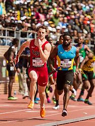 Penn Relays, USA vs the World, mens 4x400 relay, Patrick Feeney, USA
