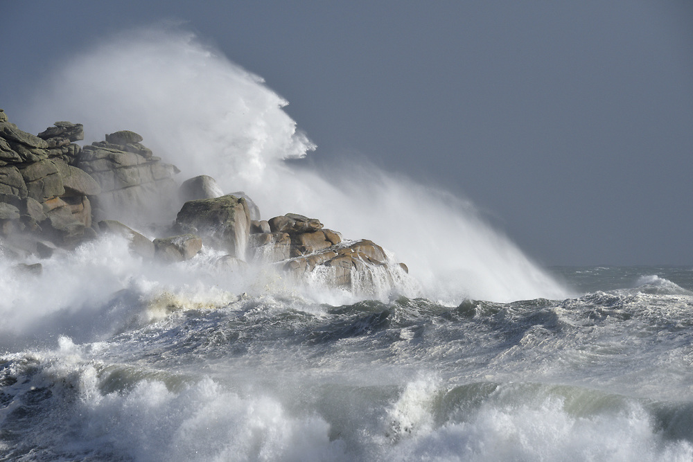Stormy sea - Hurricane Ophelia, Isles of Scilly